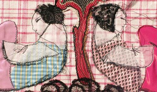 Exposition Rêves en piqué-libre – l'Atelier du Tissu – Nantes
