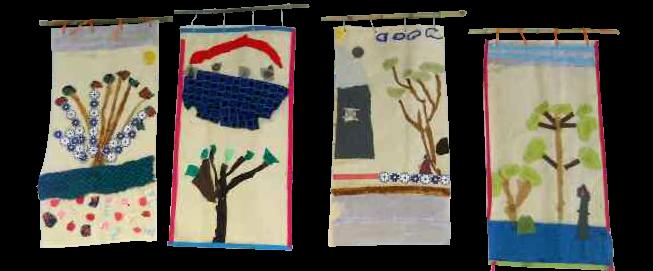 Article de la revue Artexture – Atelier textile Kakémonos avec des CE1-CE2